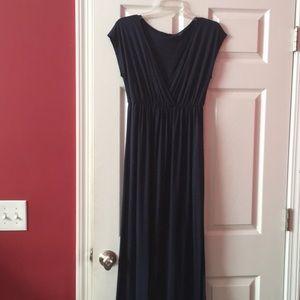 Espresso navy blue sleeveless maxi dress
